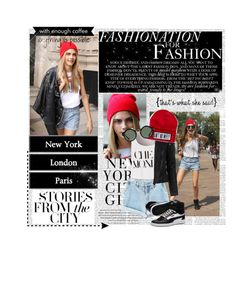"""Walking down the streets"" by anna-lena-als ❤ liked on Polyvore"