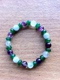 Aquamarine Fluorite and Aventurine to fit a 7 by Crystalcures4u