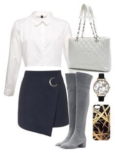 """""""Untitled #39"""" by biancamarie17 on Polyvore featuring Topshop, Gianvito Rossi, Chanel, Olivia Burton and Khristian Howell"""