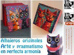 Alhajeros pintados a mano Acrílico sobre madera Mónica Padilla México