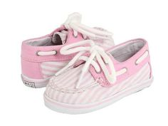 Baby Sperrys in Pink Seersucker - who knew they made baby/toddler size for girls!!! Sylvia might be getting a pair soon!