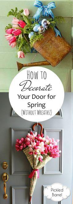 Spring Door Wreaths Diy Front Porches