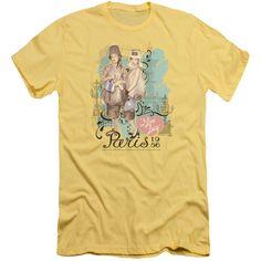 Lucy - Paris Dress Adult Slim Fit T-Shirt