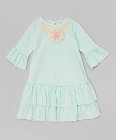 Loving this Light Green Ruffle Swing Dress - Infant & Toddler on #zulily! #zulilyfinds