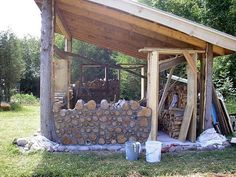 Cordwood Shed by Tom Huber at Paul Smith's College, NY. http://www.daycreek.com
