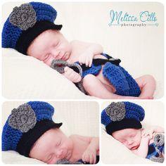 Newborn photography | babyboy police officer