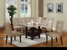 Bahamas Counter Height Dining Table Faux white marble top Angled