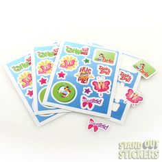 Rectangle Vinyl Stickers with 11 Kiss Cuts