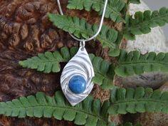 Silver Pendant  Swirl Lapis Lazuli Blue by SilverWindsJewellery