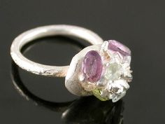 Ring by Elaine Cox Silver & precious stones