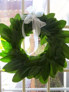 Fresh Magnolia Leaves Wreath