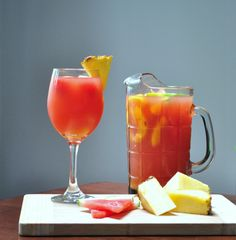 Watermelon and Peach Sangria | 28 Big-Batch Summer Drinks That Know How To Get Down