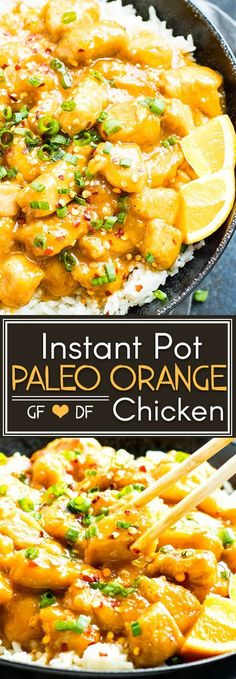 Instant Pot Orange Chicken comes together in under 30 minutes and is full of fresh orange flavor!! It is a healthy grain-free, Paleo, gluten-free, and dairy-free Instant Pot chicken recipe the whole family will love!This Instant Pot Orange Chicken recipe can easily be made Whole30-compliant!