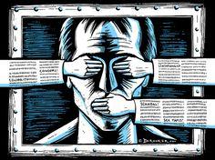 Eric Drooker Illustration - Censorship
