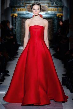 """Le chant de coquelicots"" dress in red dahlia gazar.    http://www.valentino.com/en/collections/haute-couture/"