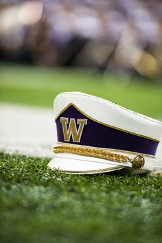 A Husky Marching Band hat lays in the stadium. #youW Photo by Kilian Frey