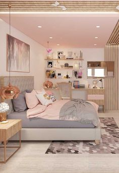 haus deko dekoration Pink is the perfect colour for girls bedroom! Discover more pink inspirations with Circu furniture for kids bedroom: Pink Bedroom Decor, Pink Bedroom For Girls, Teen Girl Bedrooms, Cozy Bedroom, Teen Bedroom Layout, Girls Bedroom Decorating, Tiny Bedrooms, Guest Bedrooms, Bedroom Colors