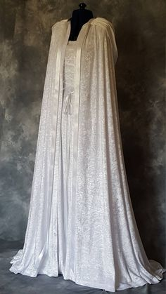 Medieval cloak and dress, perfect for handfasting ceremonies and medieval weddings, custom made to your measurements. Perfect for Elvish, Renaissance ,Pagan Medieval Cloak, Medieval Clothing, Gypsy Clothing, Steampunk Clothing, Steampunk Fashion, Medieval Outfits, Steampunk Fairy, Renaissance Wedding Dresses, Wedding Gowns