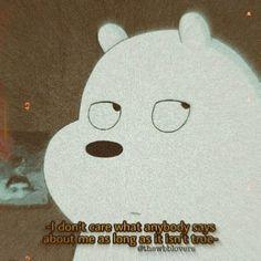 Ice Bear We Bare Bears, We Bear, Cute Panda Wallpaper, Sad Wallpaper, Best Cartoon Network Shows, Bear Meme, Anime Couple Kiss, Cute Crush Quotes, We Bare Bears Wallpapers