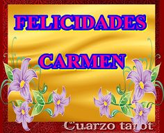 FELICIDADES CARMEN #FelizMiércoles #FelizDíaDelCarmen https://www.cuarzotarot.es/