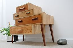 The drawers come from various bits of old redundant or broken furniture that would have otherwise ended up in landfill. As each set of drawers are selected individually, no two pieces will be the same.