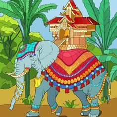 Schedule Design, Coloring Apps, Paint By Number, Grinch, Elephant, Fictional Characters, India Travel, Art, Appointments