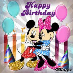 Resultado de imagen para felicitaciones de cumpleaños con imagenes de disney
