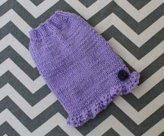 Dog Puppy Kitten Sweater Dress XXS 2 Lbs Hand Knit by ChillyPups