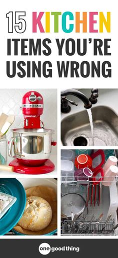 You might feel like you know everything there is to know about the stuff in your kitchen, but you might be using things the wrong way without even realizing it! Learn about 15 kitchen items that you may be using incorrectly. #kitchentools #tipsandtricks #OGT