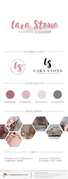 Premade Branding Kit Premade Logo Design Color by ChromoCreative