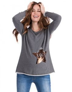 Seraphine's Love Life Sequin Maternity Sweater brings a touch of sparkle to your wardrobe – perfect before, during & after pregnancy. Maternity Sweater, Maternity Tops, Stylish Maternity, Maternity Fashion, Mermaid Sequin, Mommy Style, Pregnancy Shirts, Pulls, Sequins