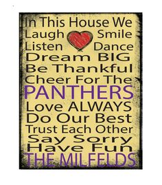 printed canvas, 11x14 canvas, mounted canvas, ready to hang canvas, University of Northern Iowa, Panthers, UNI, dorm art, In this house