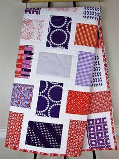 Modern Quilt Patterns, Quilt Modern, Orange Quilt, Purple Quilts, Man Quilt, Toddler Quilt, Unique Baby Gifts, Clemson Tigers, Custom Quilts