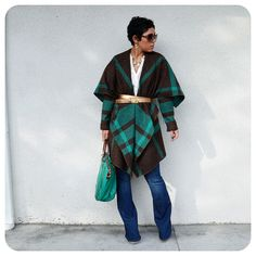 OOTD: DIY Blanket Jacket + Pattern Review V8696 |Fashion, Lifestyle, and DIY