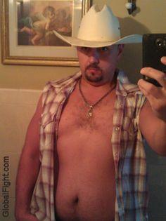 a gay cowboy wrestler hairychest bear