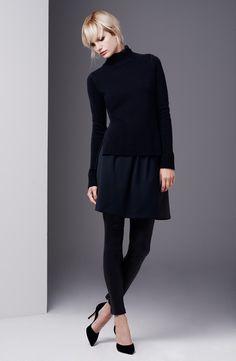 Vince Sweater, Skirt & Leather Leggings