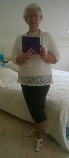 Wit kanten blouse