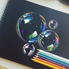 Bubble Drawing By @mannneylucero _ @arts.display by arts__gallery
