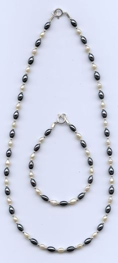Pearl Hematite Necklace
