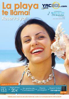 la playa te llama y Yacsol de Haya Travel en Yecla te lo pone fácil ,reserva ya y aprovéchate de numerosas ventajas!!!