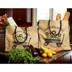 The Country Village Shoppe features Buralp Tote from India Home Fashions. Great Housewarming Gifts, Great Gifts, Burlap Tote, Jute Bags, Farmhouse Furniture, Market Bag, Shopper Bag, Tote Purse, Hostess Gifts