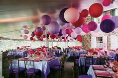 AUTUMN - Larger paper lanterns hanging from a low ceiling give your marquee or wedding venue a cosy feel! Marquee Wedding Receptions, Wedding Venues, Tent Decorations, Wedding Decorations, Hanging Paper Lanterns, Ceiling Decor, Colored Paper, Wedding Designs, Wedding Ideas