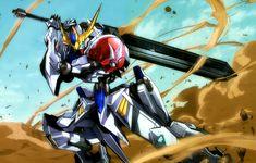 This HD wallpaper is about Anime, Mobile Suit Gundam: Iron-Blooded Orphans, Original wallpaper dimensions is file size is Gundam 00, Gundam Wing, Robot Concept Art, Robot Art, Barbatos Lupus Rex, Sci Fi Wallpaper, Blood Orphans, Gundam Iron Blooded Orphans, Gundam Astray
