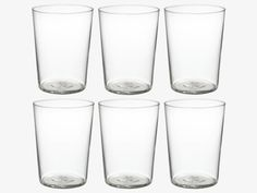 BARON CLEAR Glass Set of 6 large tumblers - HabitatUK