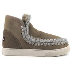 Mou Boots Mini Eskimo Sneaker Women Dark Stone - MOU #mouboots #mousale #moubootssale #BlackFriday