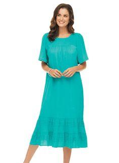 Crinkle Cotton Dress Zoom In Frock Dress, Dress Skirt, Maternity Nursing Dress, Crinkles, Bellisima, Cotton Dresses, Frocks, Night Gown, What To Wear