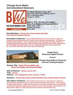 Description of Seminar: Several African-Americans are recent heroes in regards to bringing armed self-defense back to a deserving and undeserved population. This was done through careful litigation. Join this session as we outline the rights and responsibilities involved with legal gun ownership in Illinois/Chicago, along with the short history of the restoration of handgun ownership rights in the city. Learn what tomorrow's gun owners need to know today! Handgun, Firearms, Rights And Responsibilities, What About Tomorrow, Chicago Area, African Americans, Outline, Illinois, No Response