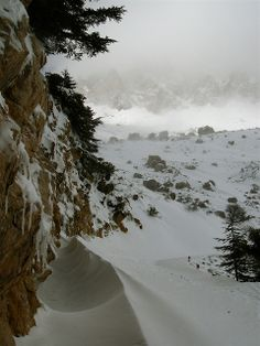 extreme snow conditions in Africa -- Djurdjura National Park, Tizi'n'Kouilal, Bouira, Algeria
