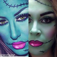 Halloween Make Up, Halloween Ideas, Halloween Costumes, Halloween Face Makeup, Pop Art Makeup, Kids Makeup, Monster High Makeup, Frankenstein Makeup, Zombie Kid