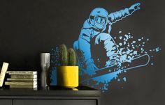 Snowboard wall sticker